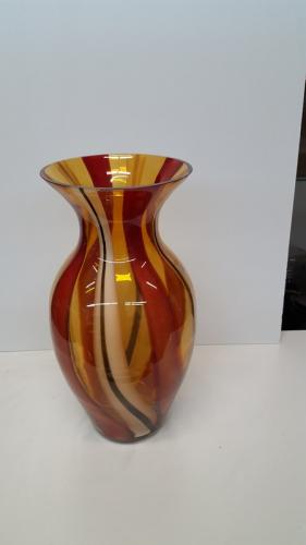 Yellow/Brown Marble Vase