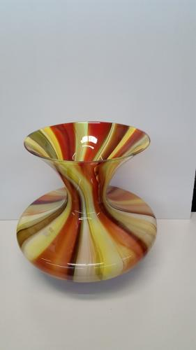 Red/Yellow/Green Wide Vase